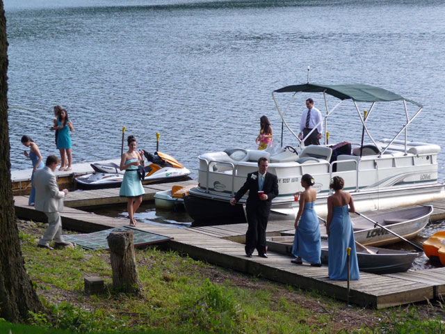 Wedding Party On The Pontoon